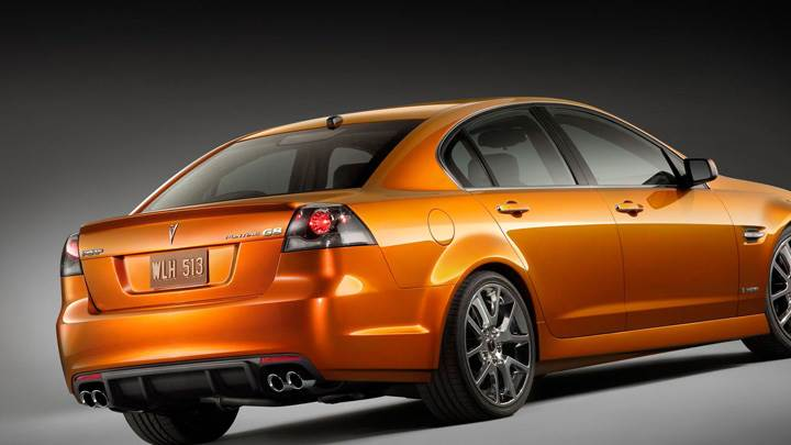 2009 Pontiac G8 In Orange Back Side Pose