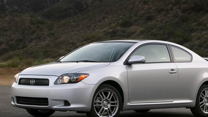 2009 Scion TC In Silver Side Pose