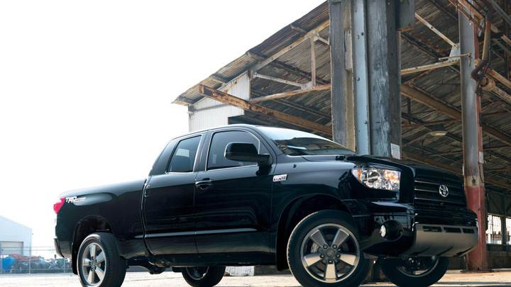 2009 Toyota Tundra TRD Sport Edition Package In Black Side Pose
