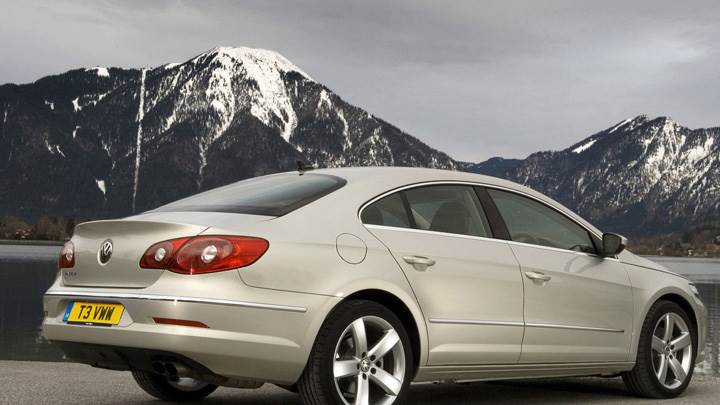 2009 Volkswagen Passat CC GT In White Near Mountains