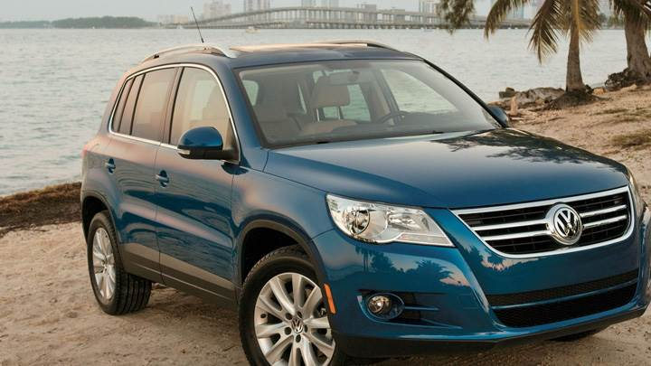 2009 Volkswagen Tiguan In Blue Near Sea