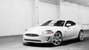 2010 Jaguar XKR Front Side Pose In White