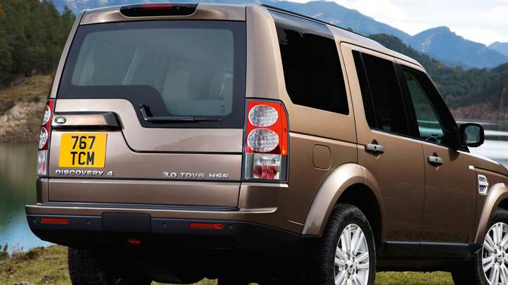 2010 Land Rover Discovery In Brown Side Back Pose