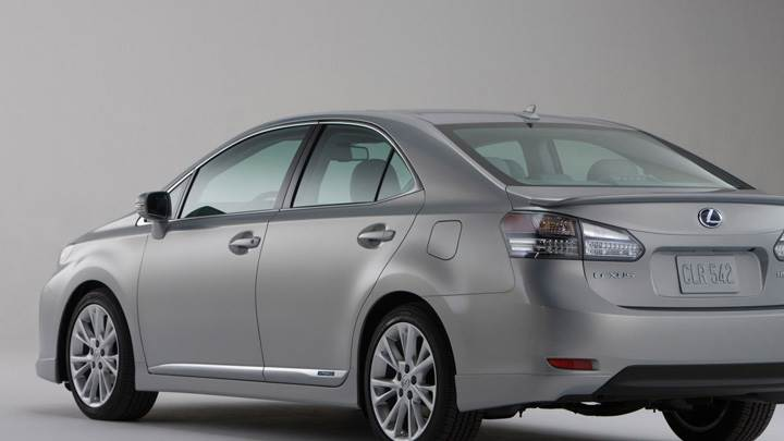 2010 Lexus HS 250H In Grey Back Side Pose