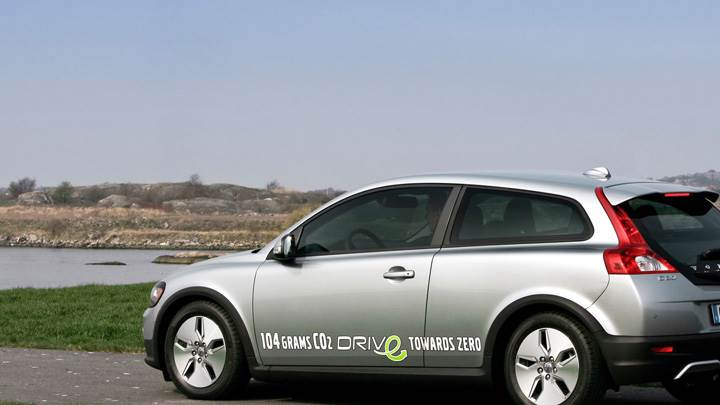 2010 Volvo C30 In Silver Near Sea