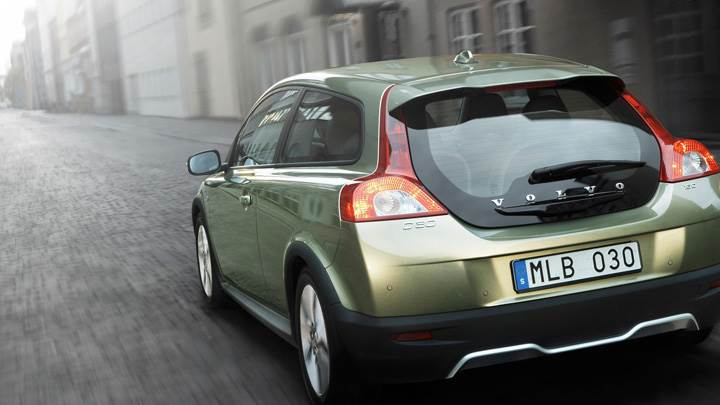 2010 Volvo C30 Running Fast Back Pose