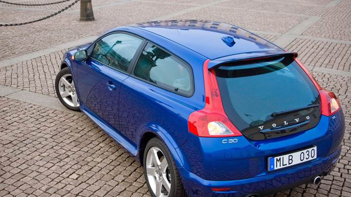 2010 Volvo C30 Top Back Pose In Blue