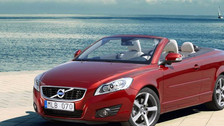 2010 Volvo C70 In Red Near Sea