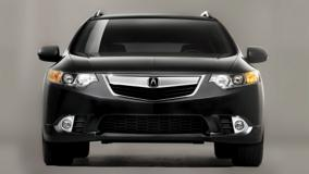 2011 Acura TSX Sport Wagon Front Pose In Black