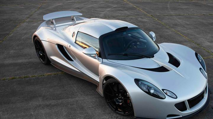 2011 Hennessey Venom GT Front Top View In Silver