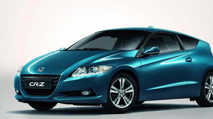 2011 Honda CR-Z Sport Hybrid Coupe Side Pose In Blue