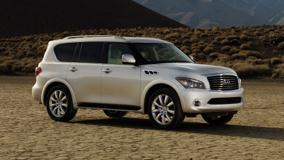 2011 Infiniti QX56 In White Side Pose