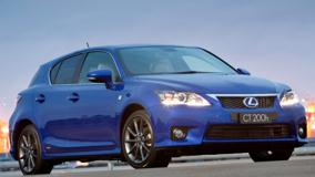 2011 Lexus CT 200h F-Sport In Blue Front Pose