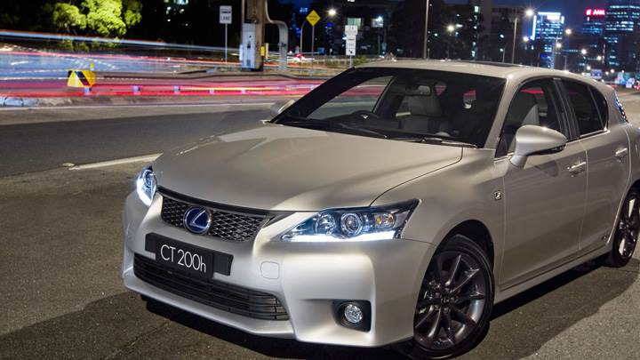 2011 Lexus CT 200h F-Sport In Grey On Road Front Pose