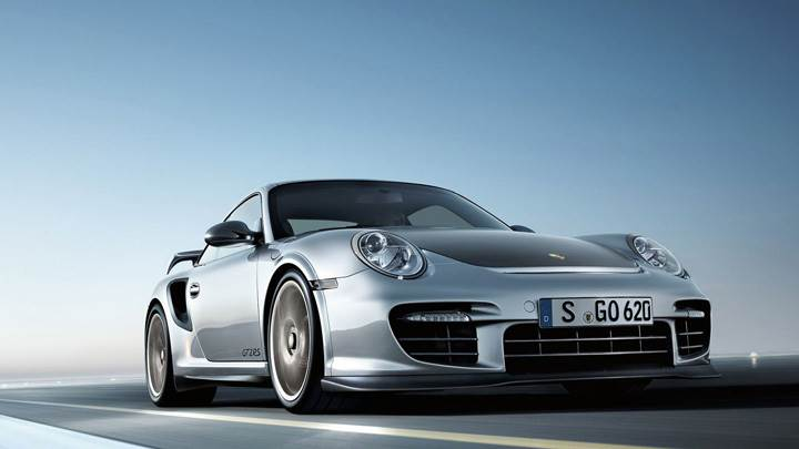 2011 Porsche 911 GT2 RS In Silver Running