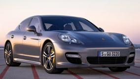 2011 Porsche Panamera Turbo S In Dark Grey Front Side Pose
