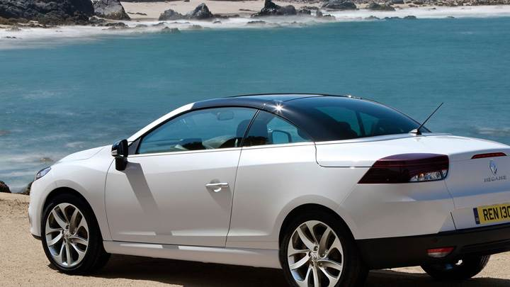 2011 Renault Megane Coupe In White Near Sea Side