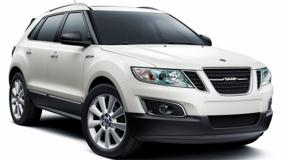 2011 Saab 9-4X Front Side Pose On White Background
