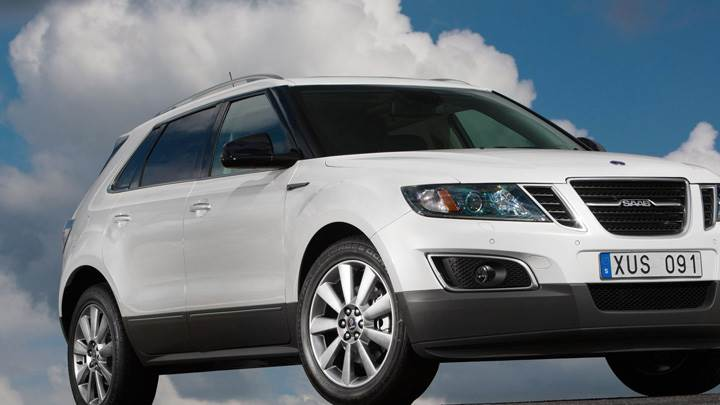 2011 Saab 9-4X In White Front Side Pose