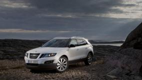 2011 Saab 9-4X Near Sea N Mountains