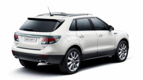 2011 Saab 9-4X Side Back Pose And White Background