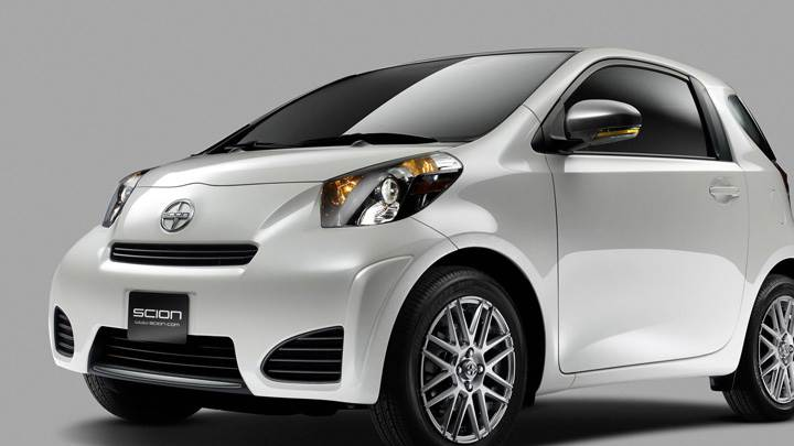 2011 Scion iQ in White Front Side Pose