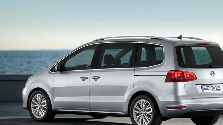 2011 Volkswagen Sharan In Silver Back Side Pose Near Sea