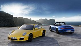 2012 Porsche 911 Carrera 4 Gts Yellow And Blue