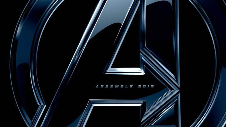 2012 The Avengers Logo On Black Background