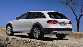 2013 Audi A4 Allroad Quattro In White Back Side Pose