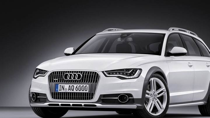 2013 Audi A6 Allroad Front Pose In White