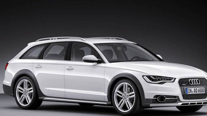 Incroyable 2013 Audi A6 Allroad In White Side Pose