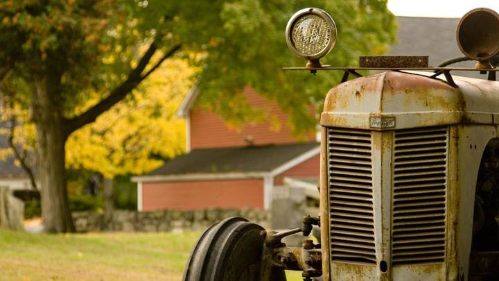 An Old Tractor Closeup