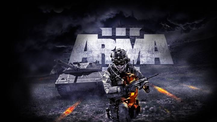 Arma 3 – Running Soldier Black Background