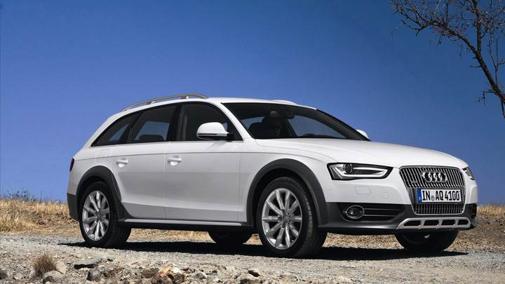 Audi A4 Allroad Quattro 2013 In White Front Side Pose