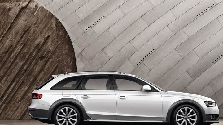 Audi A4 Allroad Quattro In White Side Pose