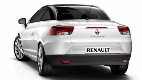 Back Pose Of 2011 Renault Megane Coupe in White N White Background