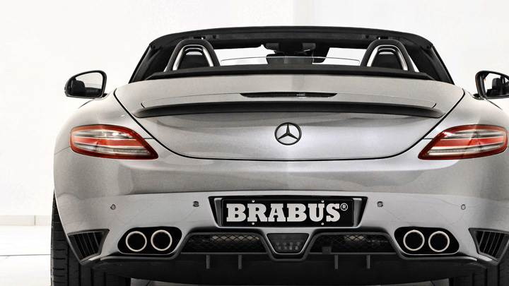 Back Pose Of Brabus Mercedes-Benz SLS AMG Roadster