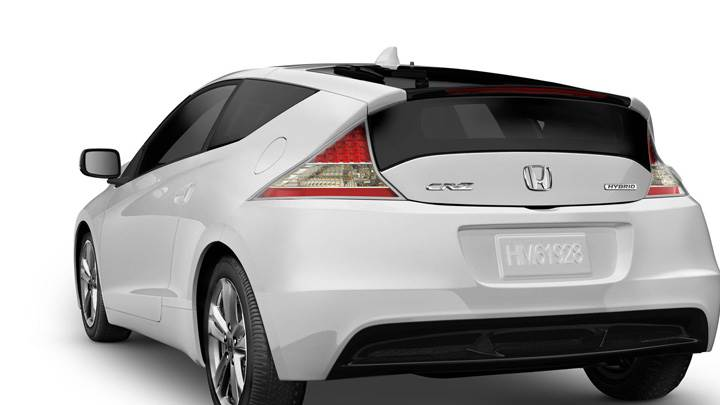 Back Pose Of Honda CR-Z Sport Hybrid Coupe 2011 In White