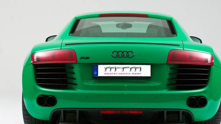 Back Pose Of Mtm Audi R8 Green Color