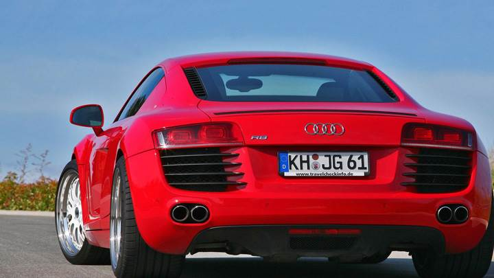 Back Pose Of Red Mfk Autosport Audi R8