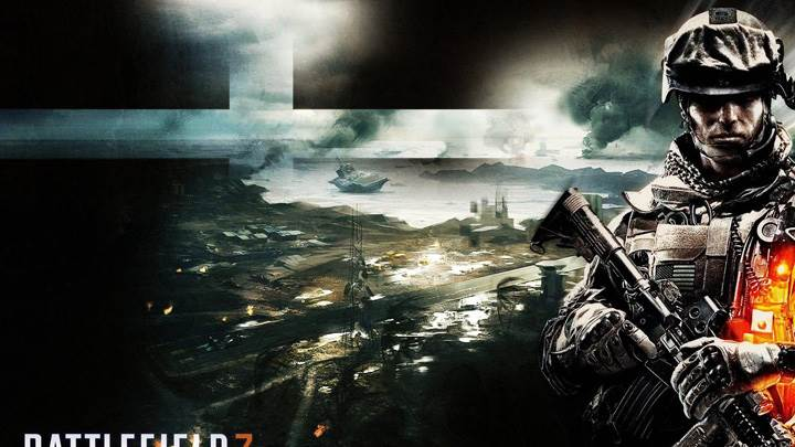 Battlefield 3 – Burning Soldier With A Rifle