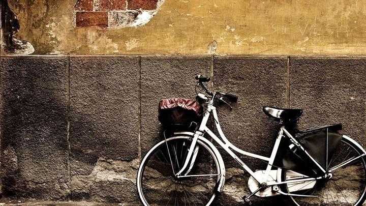 Bicycle Standing With Wall
