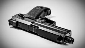 Black N White Pistol Closeup