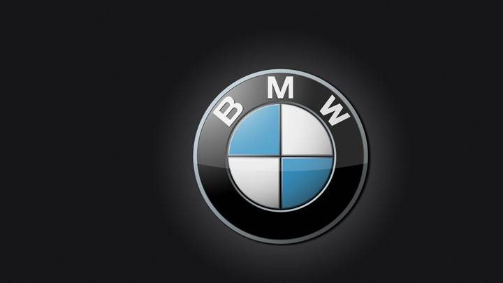 Bmw Logo On Black Background