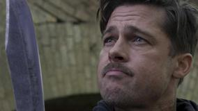 Brad Pitt Face Closeup With Knife