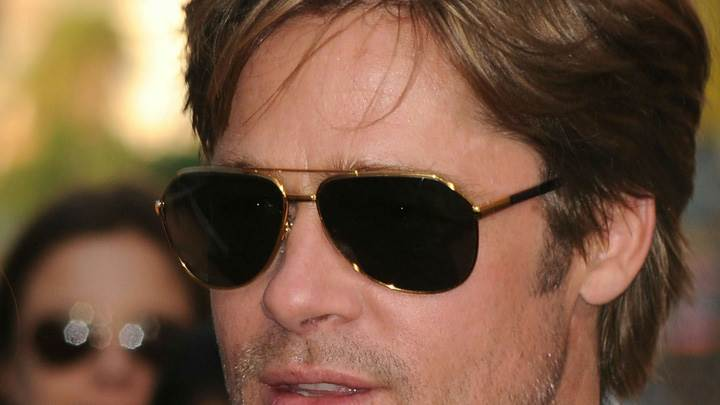 Brad Pitt In Black Goggles Ultra Face Closeup