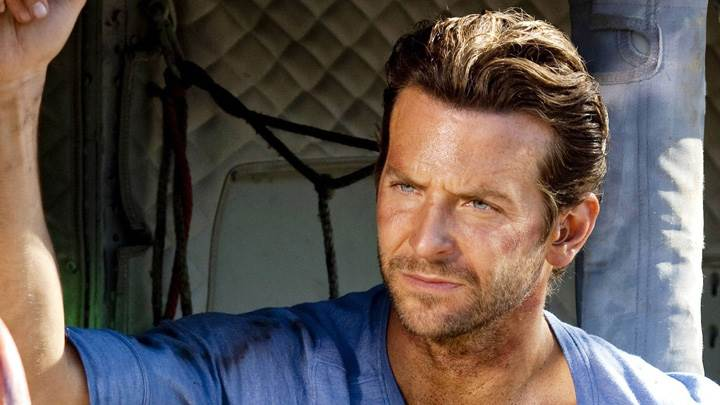 Bradley Cooper Angry Face In Blue T-Shirt Photoshoot
