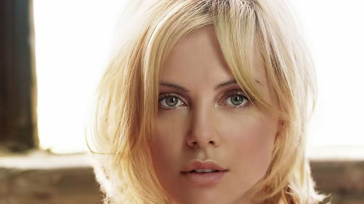 Charlize Theron Looking At Camera Wet Eyes Face Closeup