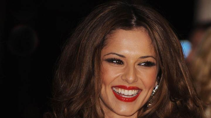 Cheryl Cole Red Lips Laughing Face Closeup